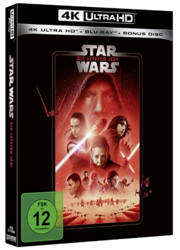 Star Wars - Episode VIII - Die letzten Jedi - 4K Ultra HD Blu-ray Cover mit Carrie Fisher, Daisy Ridley, Adam Driver
