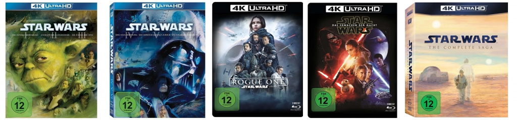 Star Wars Filme auf 4k Ultra HD Blu-ray