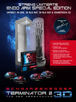 Terminator 2 als Endo Arm Special Edition mit 4K Ultra HD Blu-ray Disc