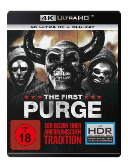 The First Purge - 4k Blu-ray Disc Cover