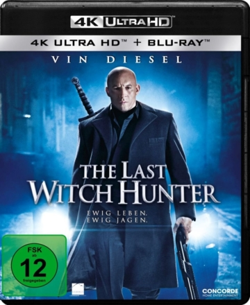 The Last Witch Hunter 4K UHD Blu-ray Disc Cover mit Vin Diesel