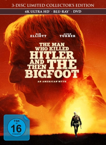 The Man Who Killed Hitler and Then The Bigfoot 4k Ultra HD Mediabook Cover