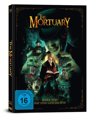 The Mortuary 4K UHD Blu-ray Mediabook mit Bluray Disc (Seitenansich)