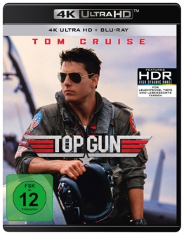 Top Gun (1986) UHD 4K Blu-ray Cover mit Tom Cruise