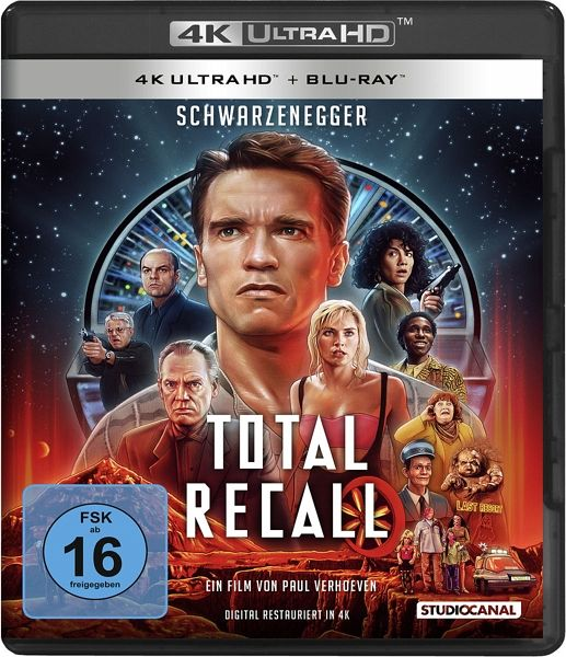 Total Recall 4K Blu-ray Cover