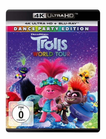 Trolls World Tour Cover der 4K UHD Blu-ray Disc Version