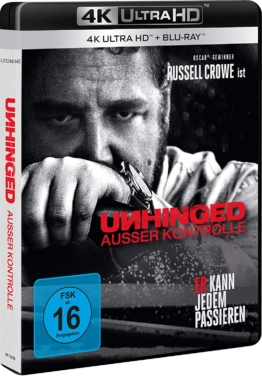Unhinged - Außer Kontrolle 4K UHD Cover mit Russell Crowe