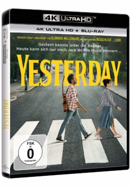 Yesterday (Film) - 4K Cover mit Himesh Patel und Lily James